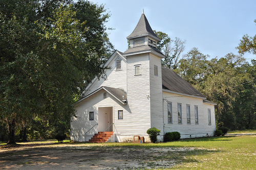 Shady Grove CME Church Drayton GA Dooly County Vernacular Architecture with Original Steeple African American Picture Image Photograph Copyright © Brian Brown Vanishing South Georgia USA 2013