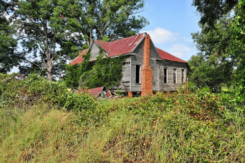 Sumter County GA Abandoned Farmhouse Vernacular Architecture Ruins Picture Image Photograph Copyright © Brian Brown Vanishing South Georgia USA 2013