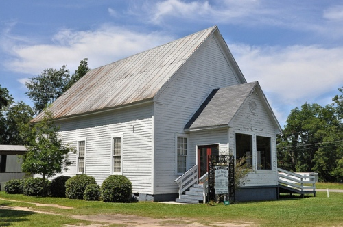 Sycamore GA Turner County Vernacular Architecture Church Apostolic Pentecostal Remodeled Vestibule Picture Image Photo Copyright © Brian Brown Vanishing South Georgia USA 2013