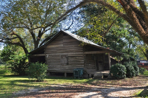 Berrien County GA Log Barn Perhaps Cabin Late 19th Century Vernacular Architecture Picture Image Photograph Copyright © Brian Brown Vanishing South Georgia USA 2013