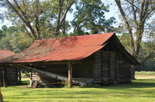 Berrien County GA Log Barn Rural Southern Architecture Late 19th Century Picture Image Photograph Copyright © Brian Brown Vanishing South Georgia USA 2013