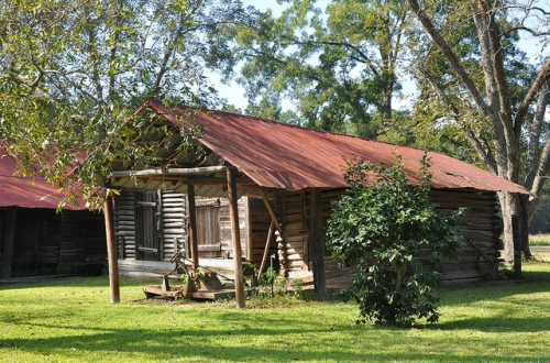Berrien County GA Log Barn Vernacular Architecture Picture Image Photograph Copyright © Brian Brown Vanishing South Georgia USA 2013