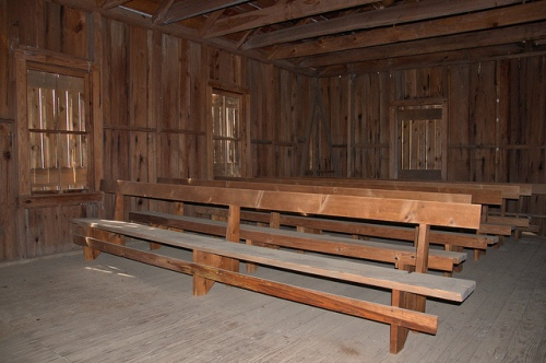 Bethlehem Primitive Baptist Church Bachlott GA Brantley County Hardshell Religion Interior Pews Rough Hewn Picture Image Photograph Copyright © Brian Brown Vanishing South Georgia USA 2013