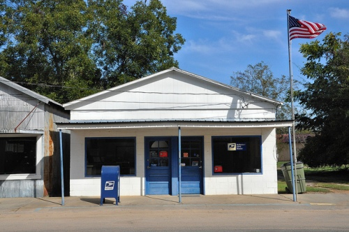 Engima GA Berrien County USPS Post Office Flag Picture Image Photograph Copyright © Brian Brown Vanishing South Georgia USA 2013
