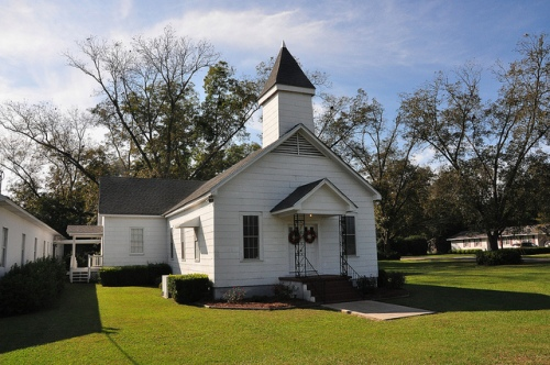 Enigma GA Berrien County Baptist Church Picture Image Photograph Copyright © Brian Brown Vanishing South Georgia USA 2013