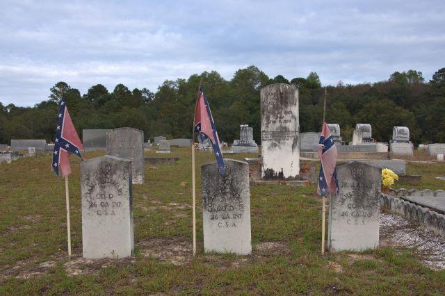 historic shiloh primitive baptist cemetery blackshear ga confederate headstones photograph copyright brian brown vanishing south georgia usa 2013