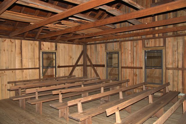 historic shiloh primitive baptist interior blackshear ga photograph copyright brian brown vanishing south georgia usa 2013