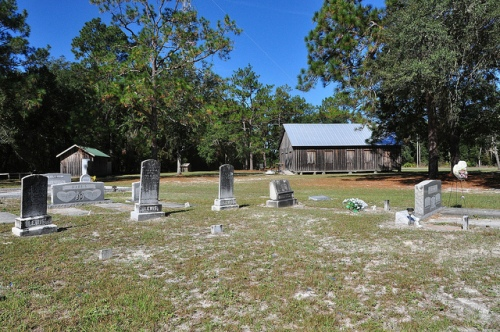 Oak Grove Primitive Baptist Church Raybon GA Brantley County Cemetery Picture Image Photograph Copyright © Brian Brown Vanishing South Georgia USA 2013
