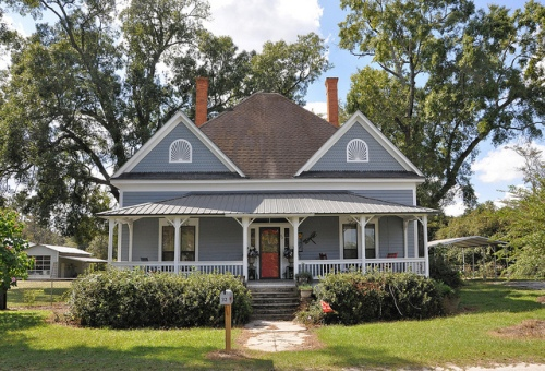 Surrency GA Appling County Folk Victorian Architecture Restored Old House Picture Image Photograph Copyright © Brian Brown Vanishing South Georgia USA 2013