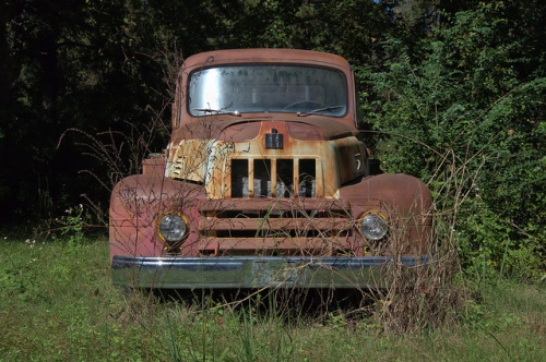 Waynesville GA Brantley County GA International R-185 Fire Truck Engine 1950s Rust Rusty Abandoned Cool Relic Picture Image Photograph Copyright © Brian Brown Vanishing South Georgia USA 2013
