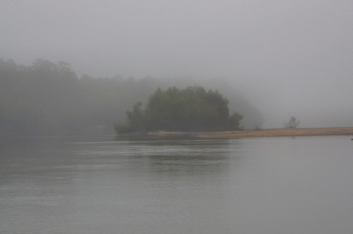 Beard's Bluff Altamaha River Long County GA Sand Bar Fog Photograph Copyright Brian Brown Vanishing South Georgia USA 2013