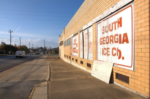 Branch's Market Mid Century Modern Architecture Ice Company Tifton GA Photograph Copyright Brian Brown Vanishing South Georgia USA 2013
