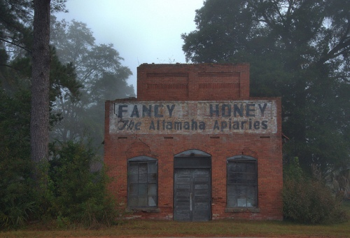 Fancy Honey Gardi GA Old Post Office Store Altamaha Apiaries Wayne County Photograph Copyright Brian Brown Vanishing South Georgia USA 2013