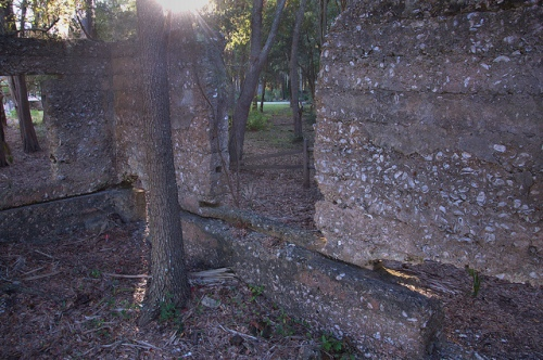 William Carnochan's Sugar Mill Ruins Tolomato Island Crum Creek GA McIntosh County Tabby Construction Photograph Copyright Brian Brown Vanishing South Georgia USA 2013