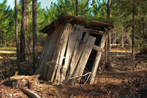Abandoned Privy Outhouse Wefanie GA Long County Picture Image Photograph Copyright Brian Brown Vanishing South Georgia USA 2013