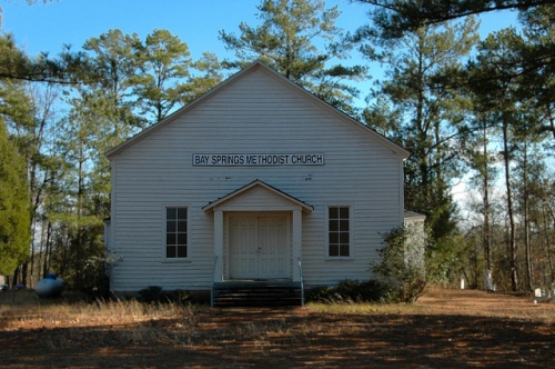 Bay Springs Methodist Church Washington County GA Photograph Copyright Brian Brown Vanishing South Georgia USA 2013