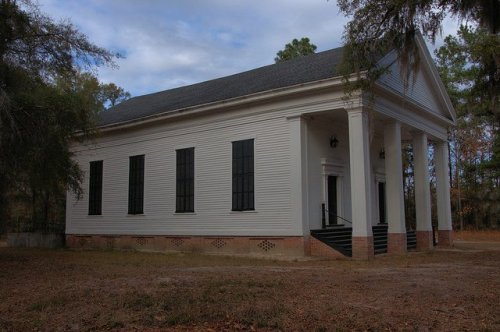 Big Buckhead Church Jenkins County GA Antebellum Greek Revival Landmark Photograph Copyright Brian Brown Vanishing South Georgia USA 2013