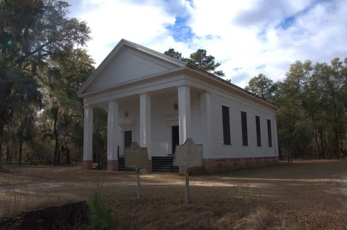 Big Buckhead Church Jenkins County GA Antebellum Landmark 3rd Oldest Baptist Church in State Photograph Copyright Brian Brown Vanishing South Georgia USA 2013