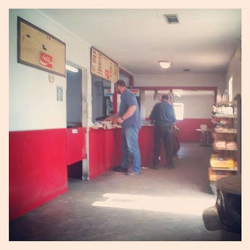 brianbrownphotography on Instagram Photograph of Patrons at Brinson's Barbeque Jenkins County GA Photograph Copyright Brian Brown Vanishing South Georgia USA 2013