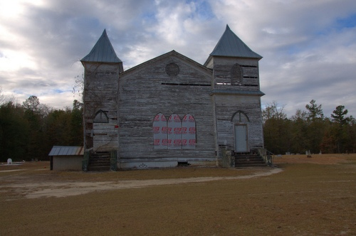 Carswell Grove Baptist Church Endangered African American Landmark Jenkins County GA Photograph Copyright Brian Brown Vanishing South Georgia USA 2013