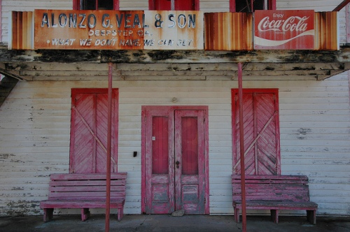 Deepstep GA Washington County Old Country Store Alonzo G Veal & Son Coca Cola Photograph Copyright Brian Brown Vanishing South Georgia USA 2013