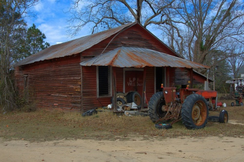 Emmalane GA Jenkins County Old Store L P Mons Well Driller Photograph Copyright Brian Brown Vanishing South Georgia USA 2013
