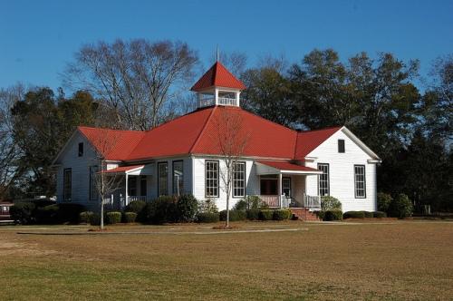 Girard GA Burke County Schoolhouse Style House Photograph Copyright Brian Brown Vanishing South Georgia USA 2013