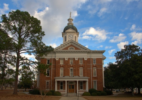 Jenkins County Courthouse Millen GA Photograph Copyright Brian Brown Vanishing South Georgia USA 2013