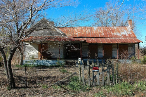 Lockhart GA Bulloch County Ghost Town Abandoned Farmhouse Vernacular Architecture Photograph Copyright Brian Brown Vanishing South Georgia USA 2013
