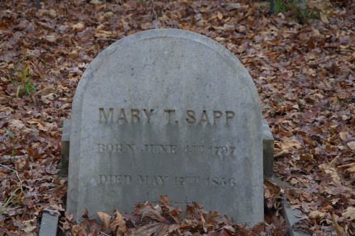 Mary T. Sapp Headstone Big Buckhead Baptist Church Cemetery Jenkins County GA Photograph Copyright Brian Brown Vanishing South Georgia USA 2013