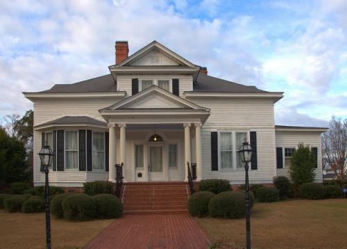 Millen GA Historic District Bo Ginn House Photograph Copyright Brian Brown Vanishing South Georgia USA 2013