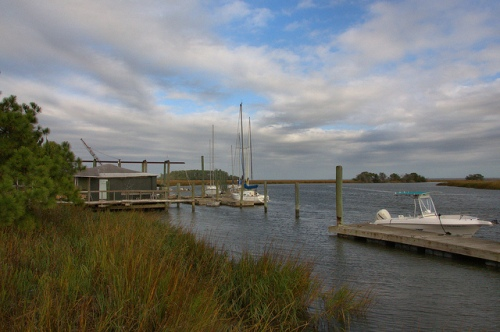 North River McIntosh County GA Hird Island Area Private Sailboats Watercraft Dock Blue N Hall Marina Photograph Copyright Brian Brown Vanishing South Georgia USA 2013