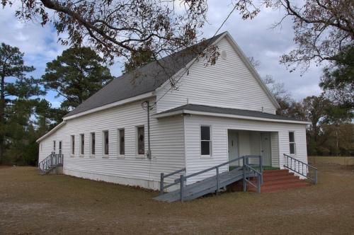 Skull Creek Baptist Church Emmalane GA Jenkins County Photograph Copyright Brian Brown Vanishing South Georgia USA 2013