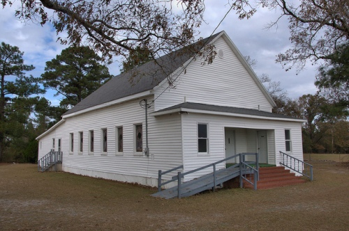 Skull Creek Baptist Church Emmalane GA Jenkins County Photograph Copyright Brian Brown Vanishing South Georgia USA 2013