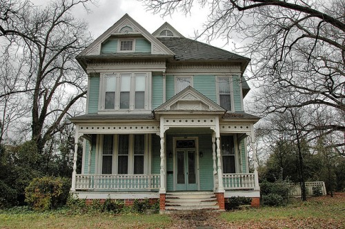 Tennille GA Washington County Old House Victorian Architecture Photograph Copyright Brian Brown Vanishing South Georgia USA 2013