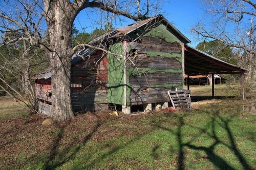 Tift County GA Grady Jones Farm Green Tar Paper Shed Crib Photograph Copyright Brian Brown Vanishing South Georgia USA 2013