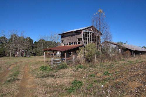 Tift County GA Grady Jones Farm Ruins of Tobacco Barn Photograph Copyright Brian Brown Vanishing South Georgia USA 2013