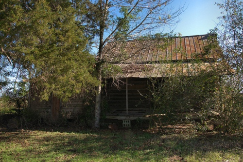 Tift County GA Whiddon Mill Road Chula Area Log Farmhouse Front Porch Grady Jones Photograph Copyright Brian Brown Vanishing South Georgia USA 2013
