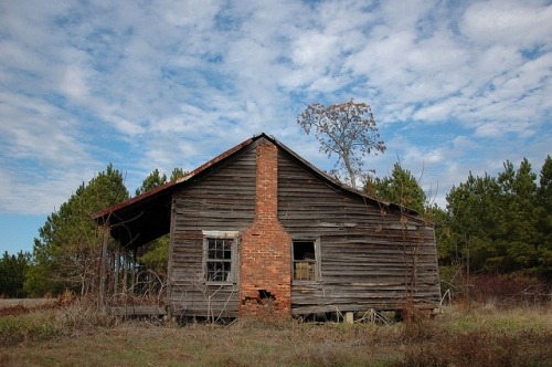 Washington County GA Abandoned Farmhouse Cracker Style Architecture Classic Photograph Copyright Brian Brown Vanishing South Georgia USA 2013