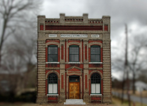 Wrightsville & Tennille Railroad Headquarters Building Tennille GA Washington County Landmark Photogaph Copyright Brian Brown Vanishing South Georgia USA 2013