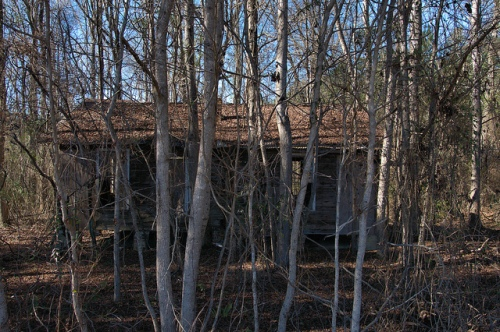 Abandoned Hunting Cabin Oak Hill Church Road Scarboro GA Jenkins County Photograph Copyright Brian Brown Vanishing South Georgia USA 2014