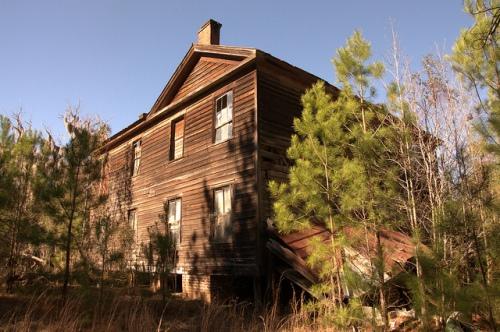 Antebellum Plantation House Scarboro GA Jenkins County Woods Family Image Photograph Copyright Brian Brown Vanishing South Georgia USA 2014