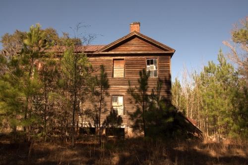 Antebellum Plantation House Scarboro GA Woods Family Image Photograph Copyright Brian Brown Vanishing South Georgia USA 2014
