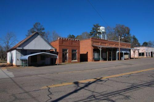 Avera GA Jefferson County Historic Downtown Storefronts Photograph Copyright Brian Brown Vanishing South Georgia USA 2014