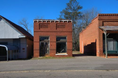 Avera GA Jefferson County Old Bank Photograph Copyright Brian Brown Vanishing South Georgia USA 2014