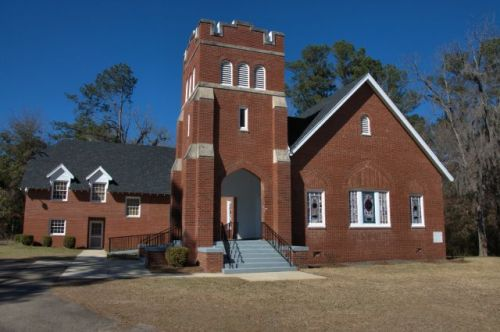 Bartow GA Baptist Church Photograph Copyright Brian Brown Vanishing South Georgia USA 2014