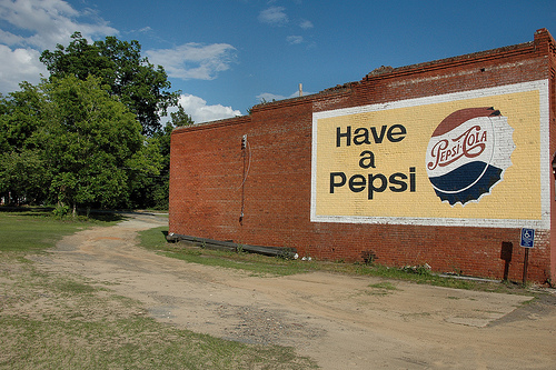 Bartow GA General Merchandise Grocery Store Pepsi Mural Photograph Copyright Brian Brown Vanishing South Georgia USA 2014
