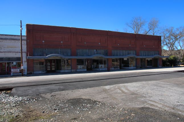 Bartow GA Historic Trackside Storefronts Window Tiles Photograph Copyright Brian Brown Vanishing South Georgia USA 2014