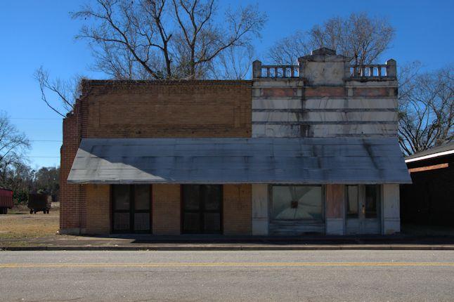 Bartow GA Jefferson County Historic Community Marble Front Bank Railroad Town Photograph Copyright Brian Brown Vanishing South Georgia USA 2014
