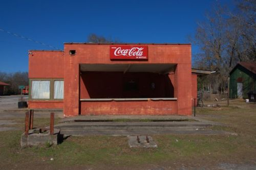 Bartow GA Jefferson County Old Cafe Coca-Cola Sign Photograph Copyright Brian Brown Vanishing South Georgia USA 2014